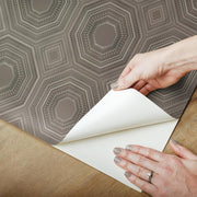 Bee's Knees Peel and Stick Wallpaper gray peel