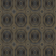 Bee's Knees Peel and Stick Wallpaper black