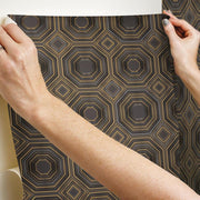 Bee's Knees Peel and Stick Wallpaper black hang