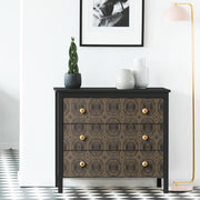 Bee's Knees Peel and Stick Wallpaper black roomset 2