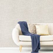 Tweed Peel and Stick Wallpaper beige roomset