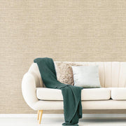 Tweed Peel and Stick Wallpaper brown roomset