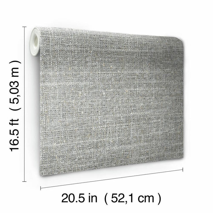 Tweed Peel and Stick Wallpaper gray dimensions
