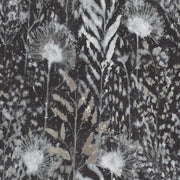 Dandelion Peel and Stick Wallpaper black