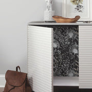 Dandelion Peel and Stick Wallpaper black roomset 3