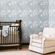 Dandelion Peel and Stick Wallpaper white roomset 4