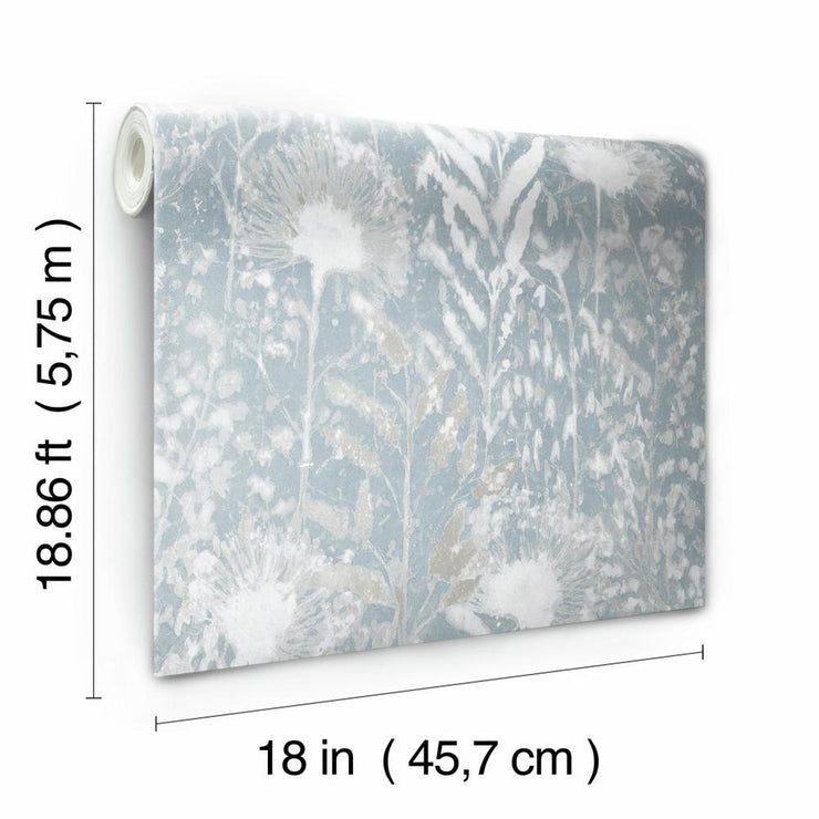 Dandelion Peel and Stick Wallpaper white roll