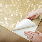 Metallic Leaf Peel and Stick Wallpaper gold peel