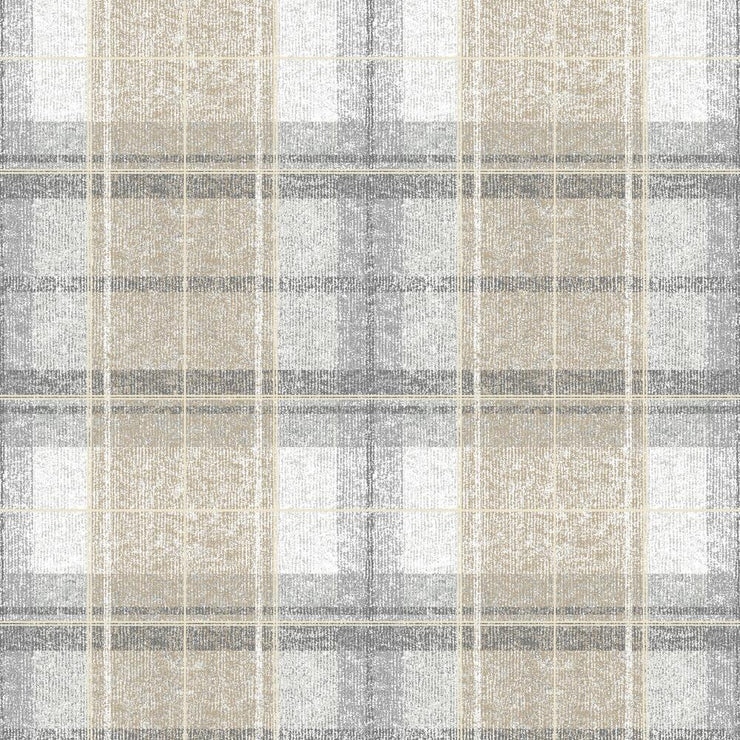 Tweed Plaid Peel and Stick Wallpaper gray