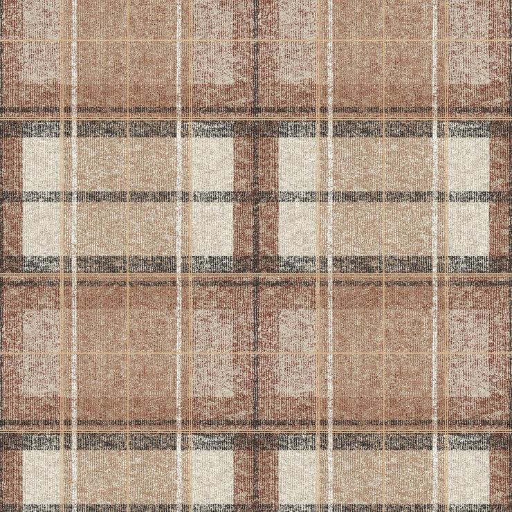 Tweed Plaid Peel and Stick Wallpaper red