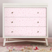 Princess Icons Peel and Stick Wallpaper with Glitter pink roomset 3