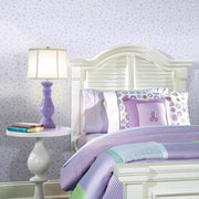 Princess Icons Peel and Stick Wallpaper with Glitter purple roomset 2