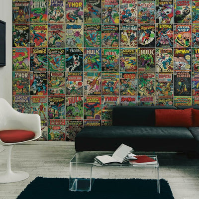 Marvel Comic Cover Peel and Stick Mural roomset
