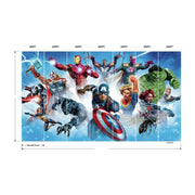 Avengers Gallery Art Peel and Stick Mural measurements