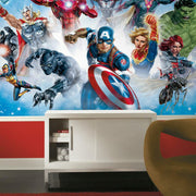 Avengers Gallery Art Peel and Stick Mural roomset 2