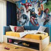 Avengers Gallery Art Peel and Stick Mural roomset