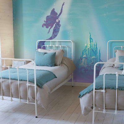 Disney The Little Mermaid Under the Sea Peel and Stick Mural roomset