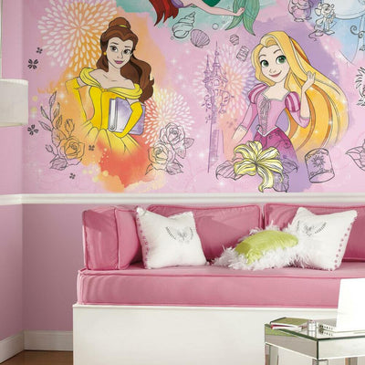 Disney Princess Peel and Stick Mural roomset