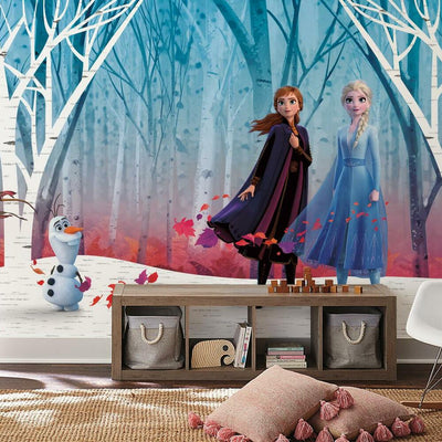 Disney's Frozen 2 Woodland Tree Peel and Stick Mural roomset