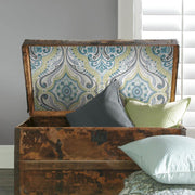 Bohemian Damask Peel and Stick Wallpaper green roomset 3