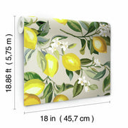 Lemon Zest Peel and Stick Wallpaper beige roll
