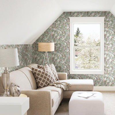 Willow Branch Peel and Stick Wallpaper roomset 5