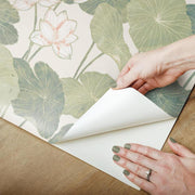 Lily Pad Peel and Stick Wallpaper beige peel