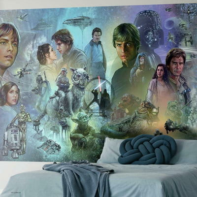Star Wars ™ Original Trilogy Peel and Stick Mural roomset