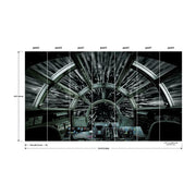 Star Wars™ Millennium Falcon™ Peel and Stick Mural dimensions