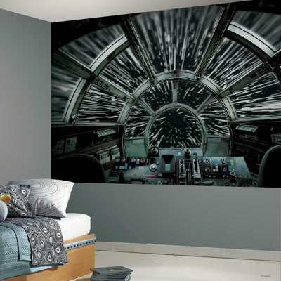 Star Wars™ Millennium Falcon™ Peel and Stick Mural roomset