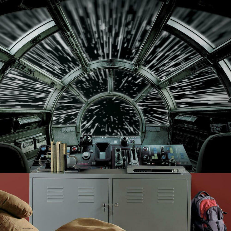 Star Wars™ Millennium Falcon™ Peel and Stick Mural roomset 2