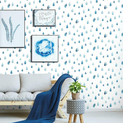 Clara Jean Raindrops Peel and Stick Wallpaper romset