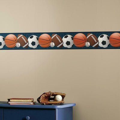 Sports Balls Peel and Stick Border roomset