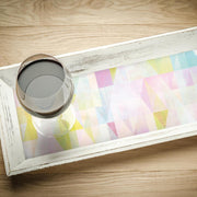 Prismatic Geo Peel and Stick Wallpaper multicolored roomset 4