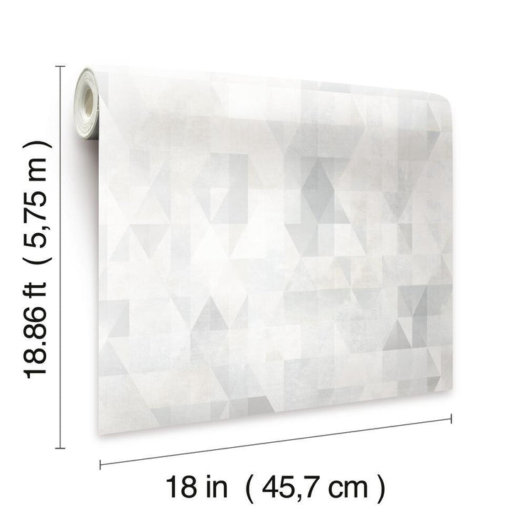 Prismatic Geo Peel and Stick Wallpaper gray dimensions