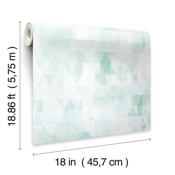 Prismatic Geo Peel and Stick Wallpaper green dimensions