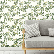 Finlayson Latvus Peel and Stick Wallpaper green roomset 2