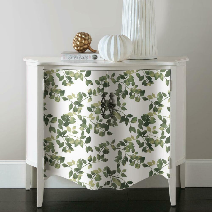 Finlayson Latvus Peel and Stick Wallpaper green roomset 3