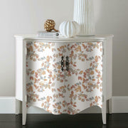 Finlayson Latvus Peel and Stick Wallpaper orange roomset 3