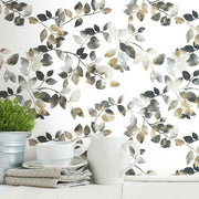 Finlayson Latvus Peel and Stick Wallpaper black roomset