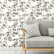 Finlayson Latvus Peel and Stick Wallpaper black roomset 2