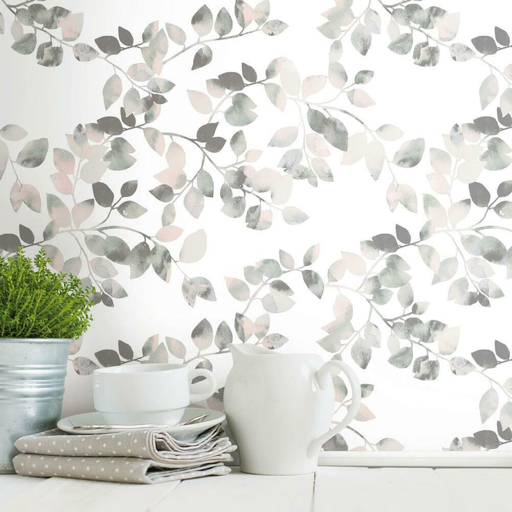 Finlayson Latvus Peel and Stick Wallpaper pink roomset