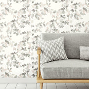 Finlayson Latvus Peel and Stick Wallpaper pink roomset 2