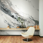 Crystal Geode Peel and Stick Mural gray roomset 2