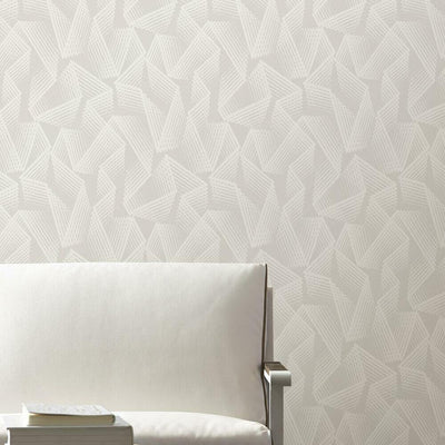 Acceleration Peel and Stick Wallpaper Taupe roomset