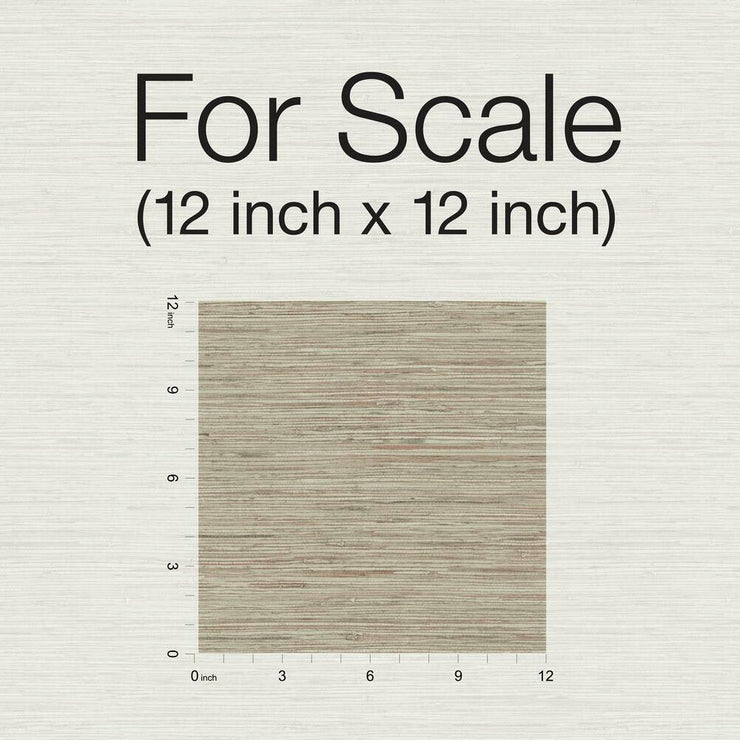 Grasscloth Peel and Stick Wallpaper taupe scale
