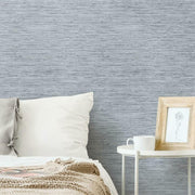 Grasscloth Peel and Stick Wallpaper light gray roomset