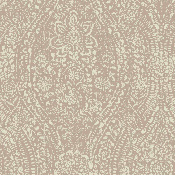 Ornate Ogee Peel and Stick Wallpaper pink