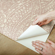 Ornate Ogee Peel and Stick Wallpaper pink peel