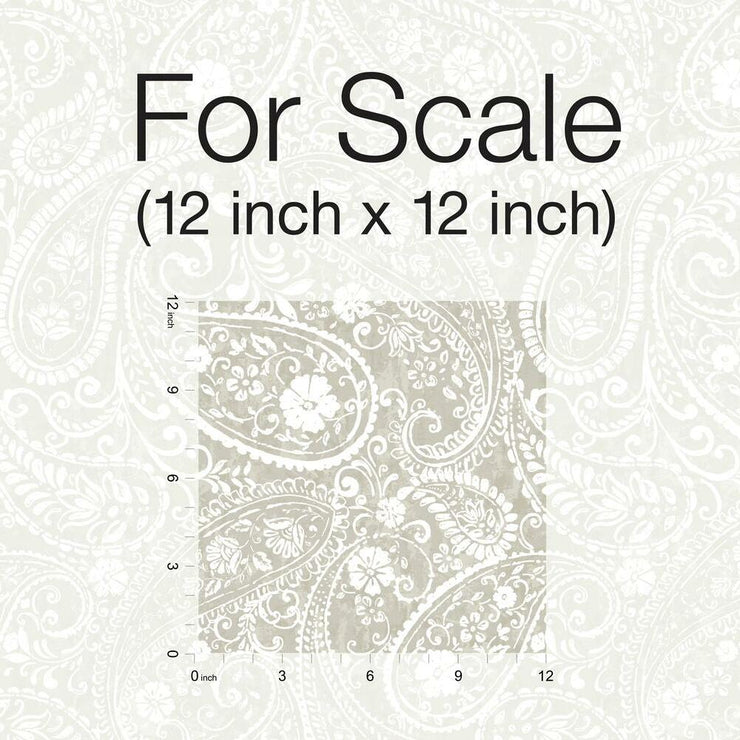 Paisley Prince Peel and Stick Wallpaper beige scale